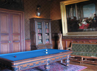 billiard table Montresor chateau