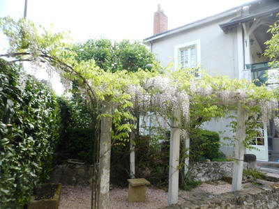 wisteria at Les Balcons holiday home in Le Grand-Pressigny France
